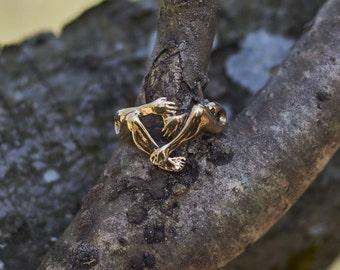 Hug Ring, Unique Men's Ring, Unique Women's Ring, Love Ring, Cool Ring for Men, Gold Women's Ring, Unique GIft, Gift for Her, Gift for Him