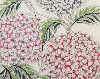 Original Artwork flowers Hydrangeas