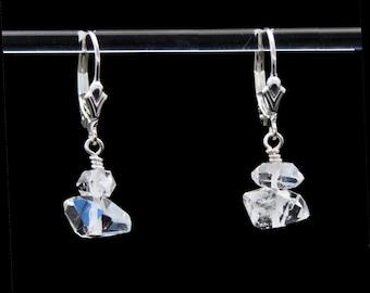 Herkimer Diamond earrings in Sterling Silver | Herkimer earrings | Herkimer Diamonds | Herkimer Diamond Jewelry | Herkimer Diamond Quartz
