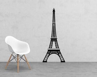 Large Eiffel Tower vinyl decal - large wall decor - nursery decor - wall decal - Home Decor - Paris Decor