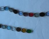 Multi Colored Oval Glass ...