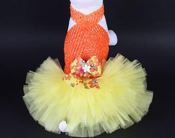 SUMMER - Citrus Splash DOG TUTU Dress
