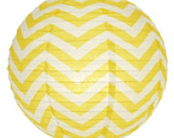 """14"""" Chevron Stripes Paper Lantern"""