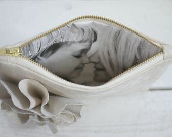 Mother of the Groom Gift | Photo clutch | Photo purse | Gift for Groom's Mom | Photo Purse | Personalized Gift for Her | Wedding Bag