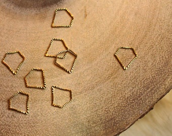 Brass Diamond Knitting Stitch Markers - Knitting Notions - Knitting Tools - Perfect for Lace Work
