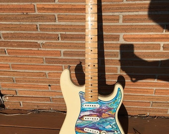 Hand Painted Psychedelic Strat Pickguard