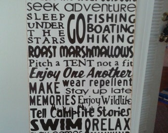 Personalized Camping Rules Sign