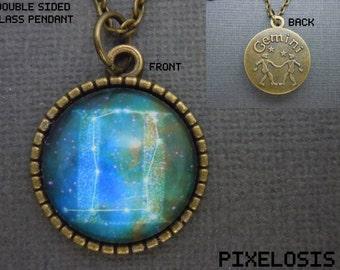 Gemini Zodiac Necklace, Gemini Constellation Necklace, Zodiac Symbol, Astrology Jewelry, May June Birthday Gift, Star Sign, Zodiac Jewelry