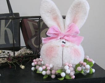 Bunny Decoration, Spring Decor, Easter Decoration, Bunny Shelf Sitter, Bunny Wreath, Table Decoration, Spring Centerpiece, Whimsical Bunny