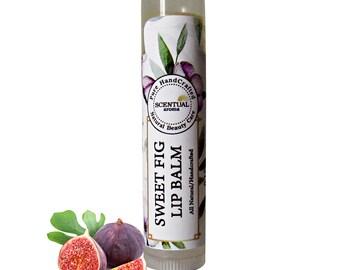 Sweet Fig Lip Balm, Organic Lip Balm, Gift Idea