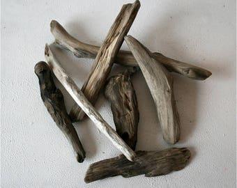 Driftwood Table Decor,Set Of 7 Amazing Shapes Driftwood Pieces, 6-10 inch, Driftwood Assortment, Driftwood Sticks, DIY Driftwood, Driftwood