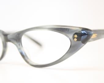 Gray cat eye glasses fade vintage eyeglass frames