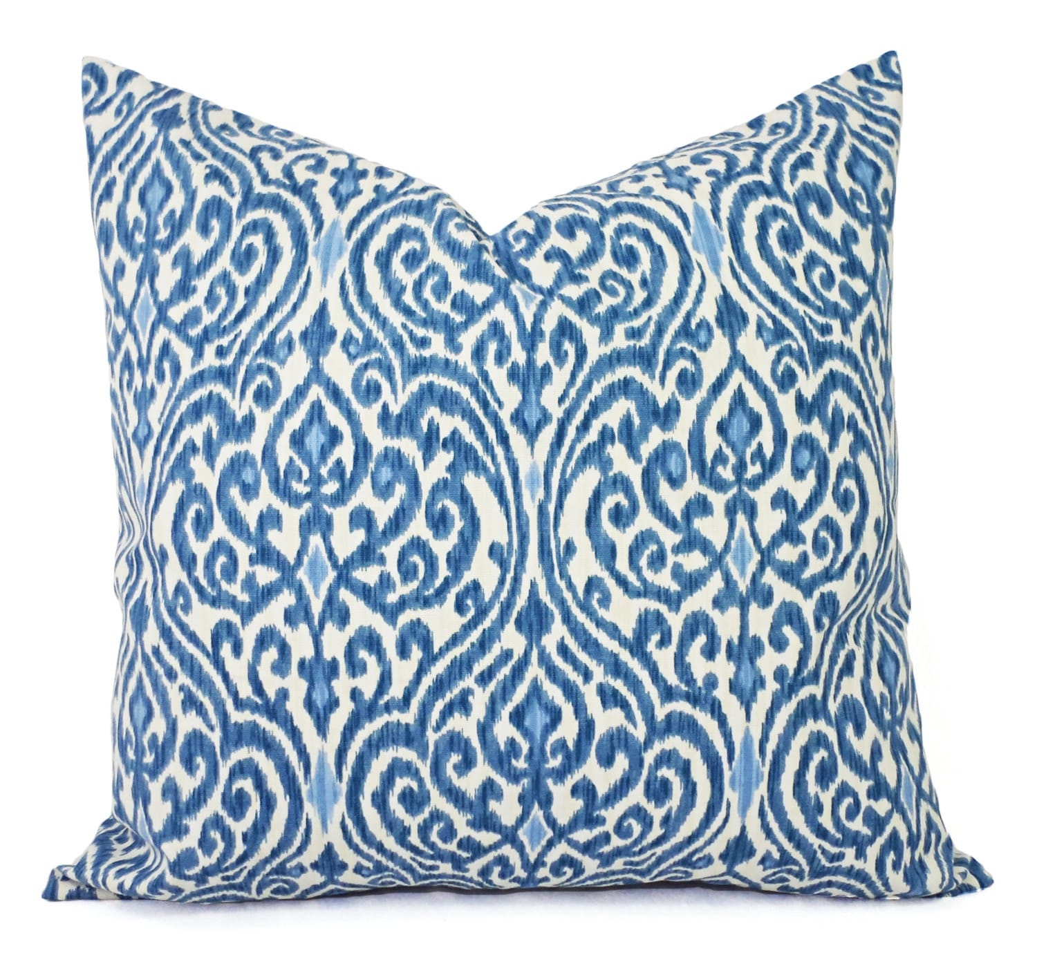 Decorative Pillows Two Decorative Pillow Covers Blue And