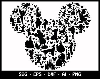 Mickey mouse SVG, Minnie mouse SVG, disney svg, mickey head svg, mickey, mickey clipart, SVG Files, Cricut Cut Files, Silhouette Cut Files