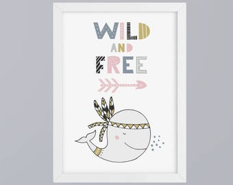 Wal-Wild & free-art print without frame