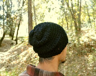 Cotton Beanie Hat Crochet Cotton Hat Slouchy Beanie Mens Womens Hat More Custom Color Options