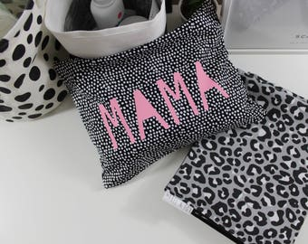 Travel Nappy Bag- Christmas Gift For New Mum - Nappy Wallet - Own Your Motherhood - Large Canvas Zip Pouch -New Mum Gift
