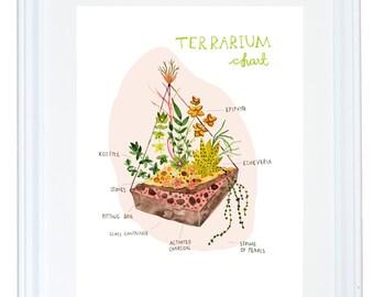 Terrarium Chart Art Print
