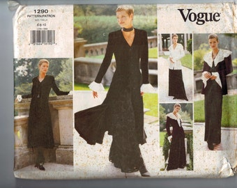 Misses Sewing Pattern Vogue Wardrobe 1290 Dress Jacket Top Pants Goth Steampunk Size 6 8 10 Bust 30 31 32 33 UNCUT  99