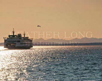 Seattle Ferry - Nature Photography, Wall Art Prints, Fine art photography print, Limited Edition
