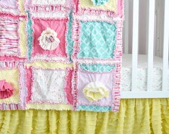 Yellow Crib Skirt - Ruffle Bedskirt Crib Bedding - Baby Crib Skirt - Ruffled Crib Skirt - Crib Skirt Girl - Ruffle Crib Skirt- Crib Bedskirt