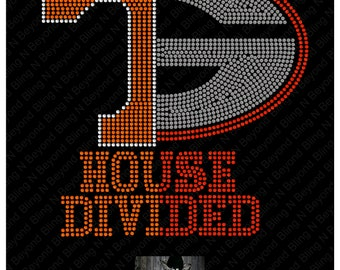 Custom House Divided Shirts.. You give us the logos and we make the bling - Tennessee - Georgetown