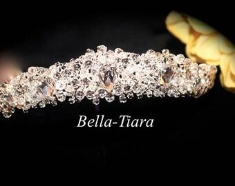 crystal wedding tiara, princess crown, bridal tiara, wedding tiara, crystal crown tiara, wedding headpiece, crystal wedding headpiece