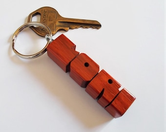 LORI - Sample Name Keychain in Paduak Wood