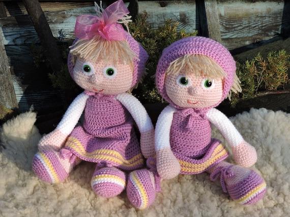 Amigurumi Doll Book : Amigurumi crochet pattern masha the russian girl amigurumi