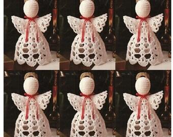 Crochet Christmas ANGEL Ornament Pattern Crochet Ornament Pattern Crochet JOY ANGEL Pattern Crochet Baptism Favor Pattern