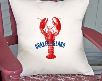 Customized Lobster Pillow (INCLUDES PILLOW INSERT)