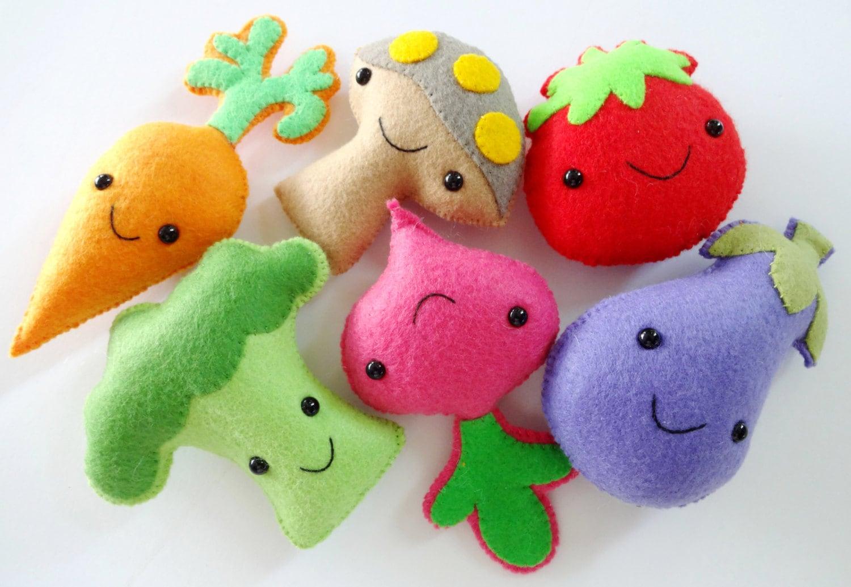 Felt veggie softies sewing pattern toy tutorial pdf e zoom jeuxipadfo Choice Image