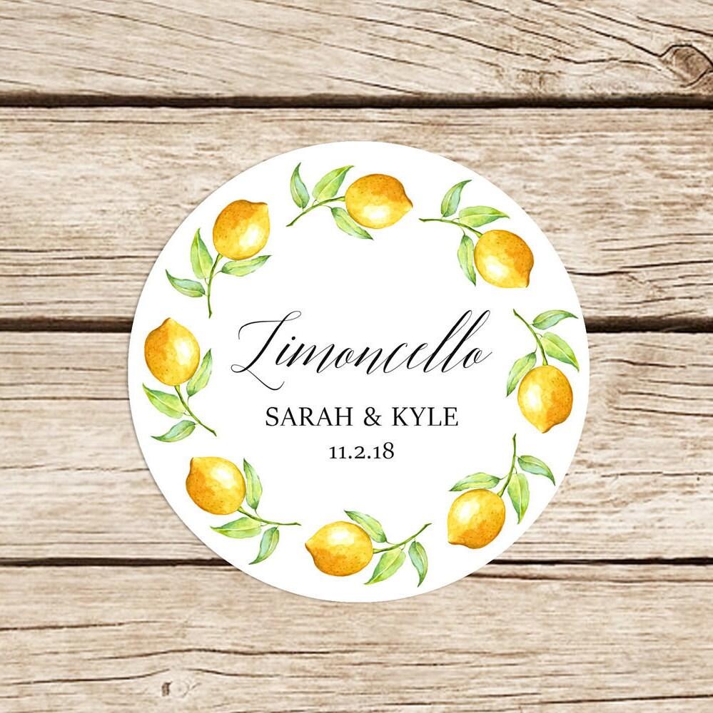 Limoncello Stickers Limoncello Favor Labels Limoncello