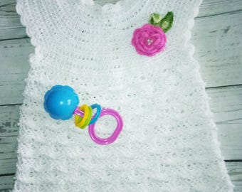 knitted baby dress, Easter