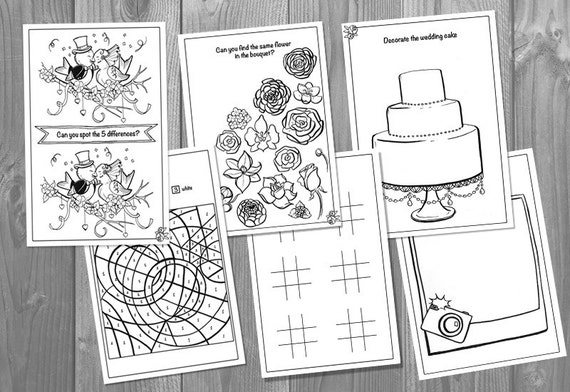 Kids wedding activity book printable personalized booklet kids wedding activity book printable personalized booklet pdf pages template childrens activity sheets pronofoot35fo Gallery