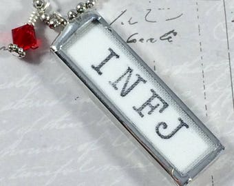 INFJ Necklace, Word Jewelry, Introvert Charm