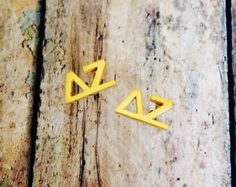 Delta Zeta Letter Stud Earrings | Sorority Earrings | Delta Zeta Earrings | DZ Earrings | Sorority Jewelry | Delta Zeta Jewelry | Deezee
