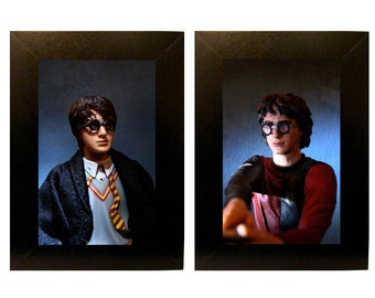 "Framed Harry Potter Toy Photographs 5"" x 7"""