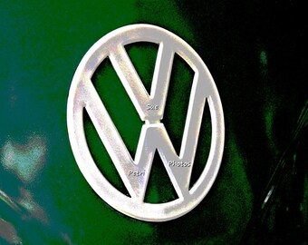 VW Bus Logo Art, Classic Vw Bus Prints, Classic Vw Bus Logo Prints, Vintage Vw Logo Photos, Green Vw Bus, Volkswagen Bus Photography, Vw