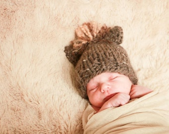 kids fall hat pony or horse hat newborn, 6 months, or 12 months photo prop