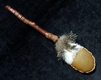 Deerskin rattle - decorated