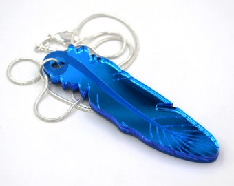 Bluebird Feather Necklace