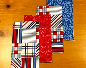 Patriotic Nautical Dinner Napkins - Set of 4 - FREE SHIPPING