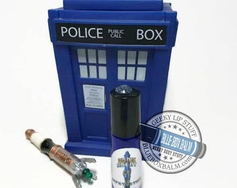 "Sonic Scent - InFATuation - ""Adipose"" Doctor Who Inspired Body Scent - A Fun Marshmallow Fragrance in a Blue Glass Roller Bottle"