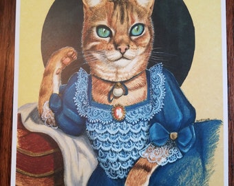 Lady Priscilla LePurr - Cat Art Print