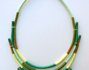 Odette- Wrapped statement necklace