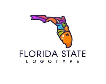 Florida Logo, Florida State Logo, State Logo, Premade Logo, Custom Logo, State Design, Logo