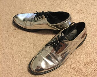 Holographic Iridescent Mirror Forever 21 Shoes Size 8