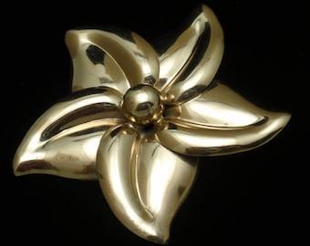 Pinwheel Flower Brooch Pin Vintage