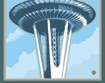 Space Needle - Seattle, Washington (Art Prints available in multiple sizes)